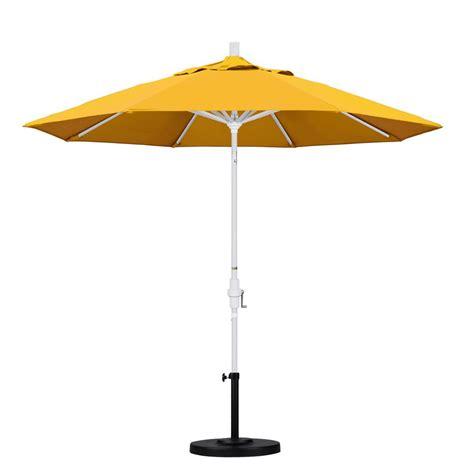 California Umbrella 9 Ft Aluminum Collar Tilt Patio Yellow Patio Umbrella