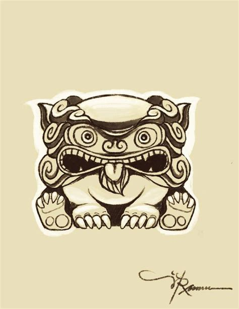 shisa tattoo okinawan tattoos okinawan shisa sketch for