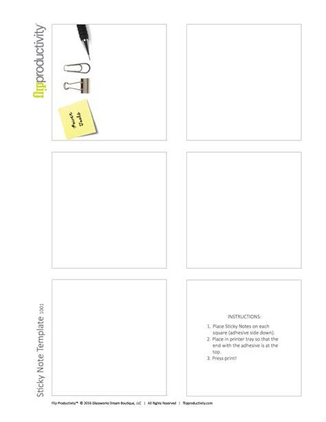 sticky note template sticky note template flip productivity