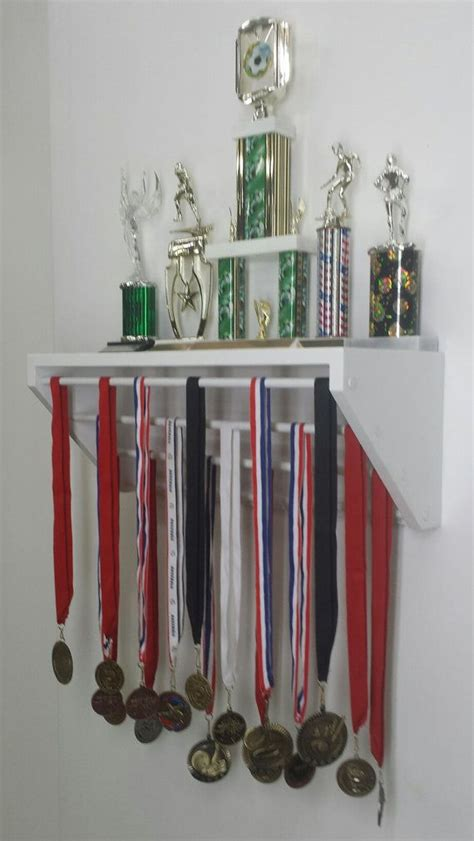 Gymnastics Trophy And Medal Shelf by White Trendy Display For Medals And Trophies Customize