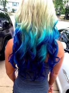 dye bottom hair tips still in style blue hair cut care and flare pinterest my hair