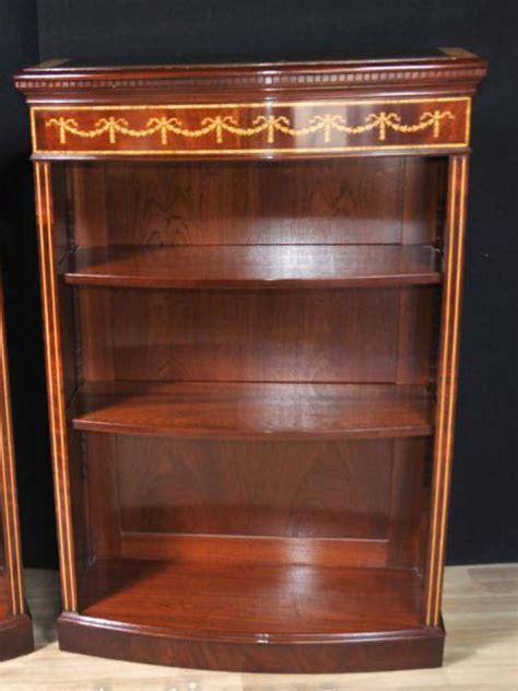 regency mahogany bookcase open bookcases