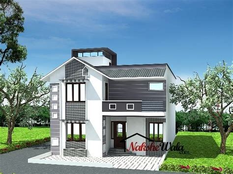 pin  azhar masood  house elevation indian sloping duplex house design duplex house plans