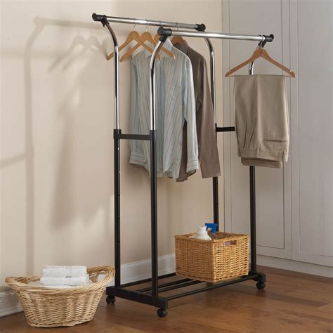 simply adjustable rolling garment rack