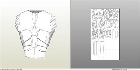 chest armor template chest armor pepakura related keywords chest armor