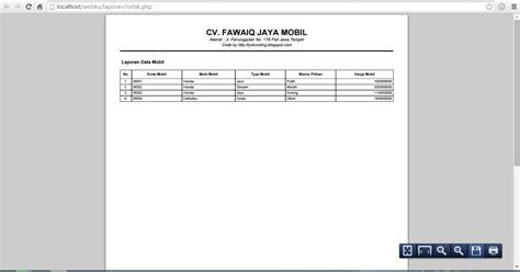 membuat web report membuat report laporan pdf dengan php dan fpdf yukcoding