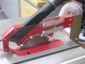 tablesaw blade guard with dust collection by