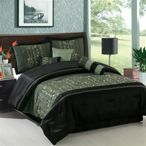 green and black bedding black and green comforter sets