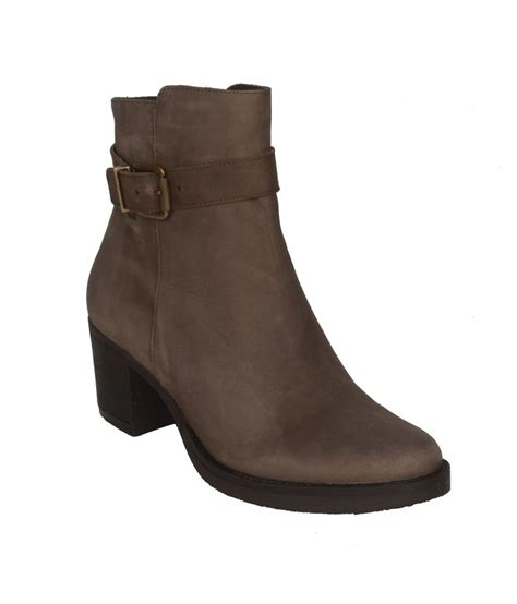 salt n pepper brown faux leather boots price in india buy