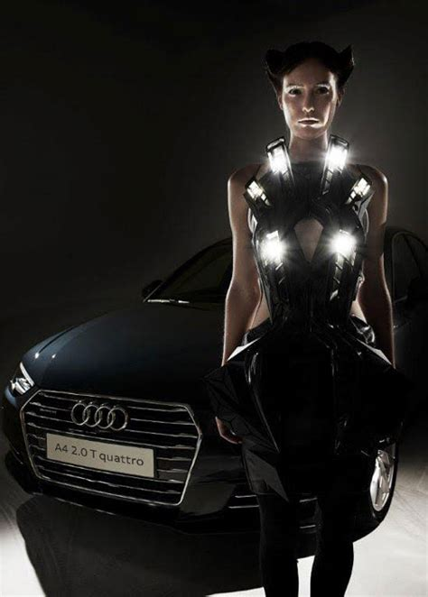 Audia Dress by Anouk Wipprecht S 3d Printed Audi A4 Dress Collection