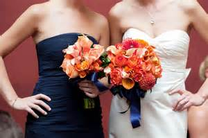 coral flowers coral navy blue orange coral wedding flowers national golf