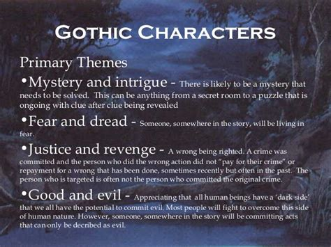 themes in gothic literature gothic literature introduction