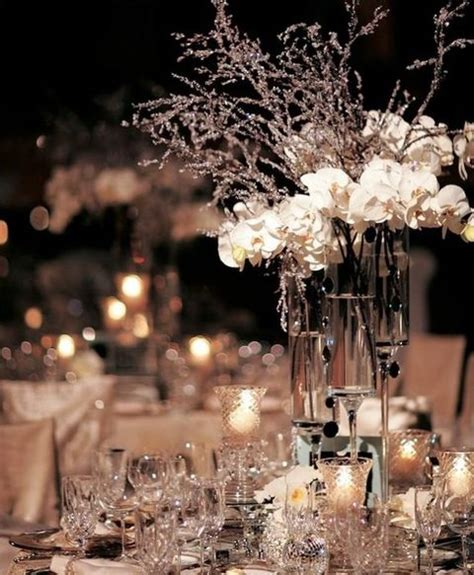 winter wedding theme centerpieces 3 60 adorable winter wedding ideas happywedd