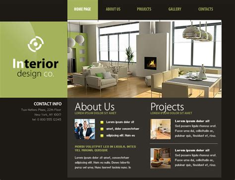 30 Free Flash Web Templates Web3mantra Interior Design Web
