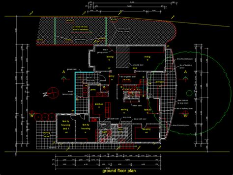 house plan autocad realcad draft