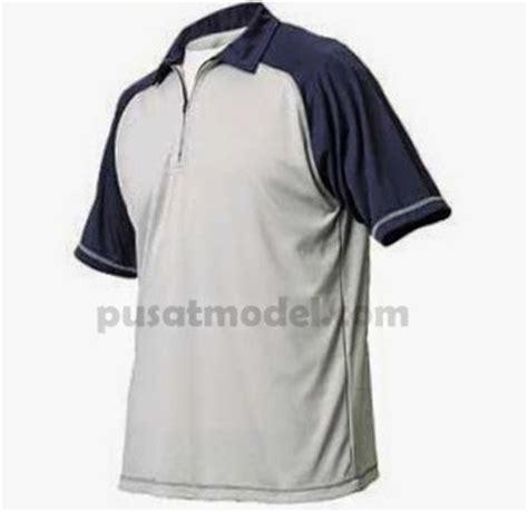 Kaos Pria Berkrah Warna Putih model kaos olahraga berkerah terbaru pusat model