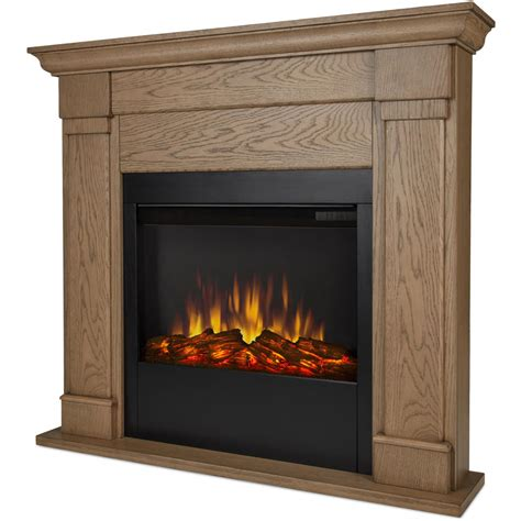 Oak Electric Fireplace by Real Lowry 46 Inch Slimline Electric Fireplace