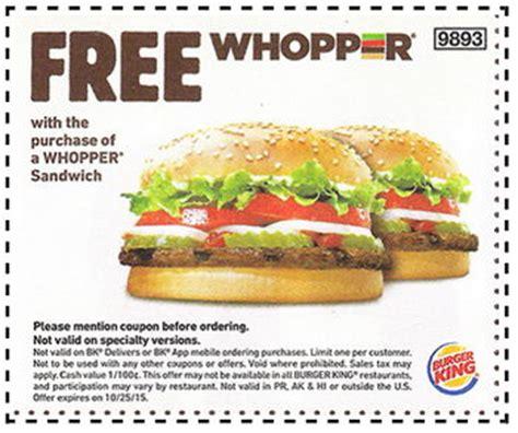 Where Can I Buy Burger King Gift Cards - burger king bogo whopper coupon free 4 seniors