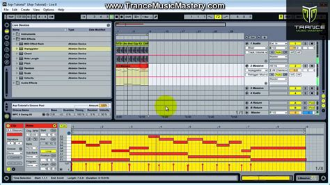 how to create arpeggio how to make trance arpeggios using the ableton live