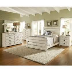 Ashley Nightstand Willow Slat Bedroom Set Distressed White Progressive