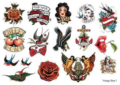 small vintage tattoos temorary vintage tattoos designs tattoos