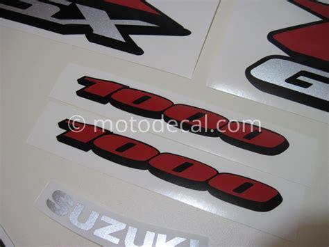 suzuki gsx r 1000 2005 black gray decal kit by motodecal
