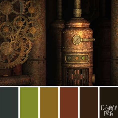 steampunk inspired color palettes delightful paths
