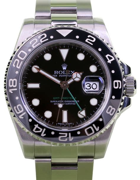 Jam Replika Rolex Gmt Master Ii Ss Black Bezel Swiss Eta 1 rolex 116710 gmt master ii black 187 for sale