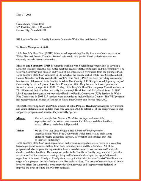 Statement Of Interest Cover Letter by Sle Interest Letter Memo Exle