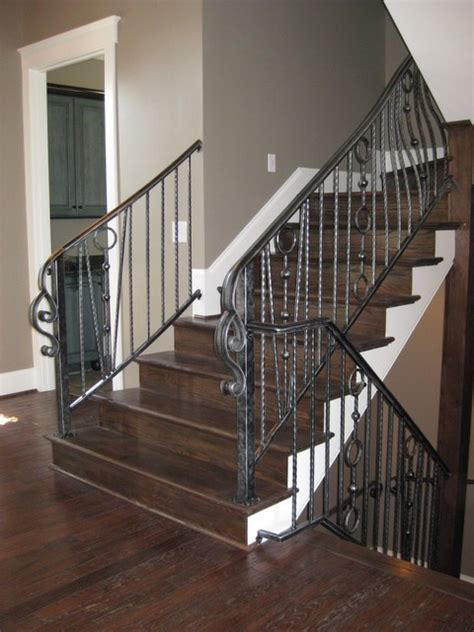 wrought iron interior railing american landmark homes