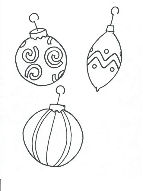 Christmas Decorations Coloring Pages New Calendar Ornaments To Color