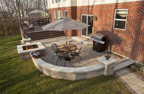 backyard patios and decks patio deck contemporary exterior cincinnati by