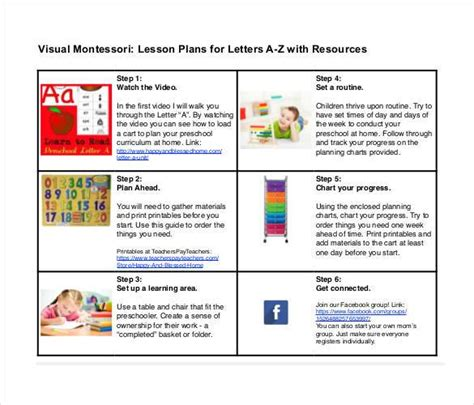 Montessori Lesson Plan Template by 50 Lesson Plan Templates Pdf Doc Excel Free