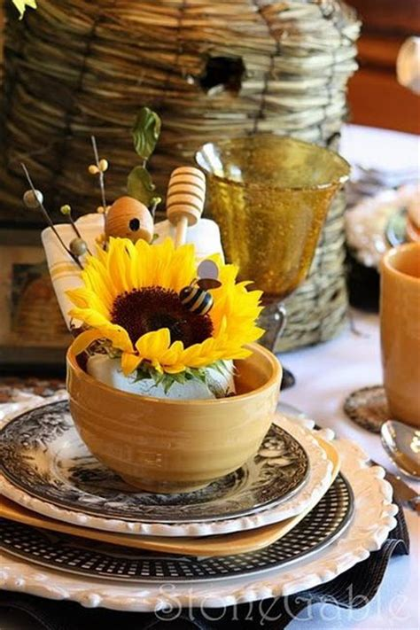 sunflower table settings 30 sunflowers table centerpieces adding yellow color