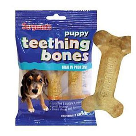 teething bones for puppies sergeants puppy teething bones 3 pack