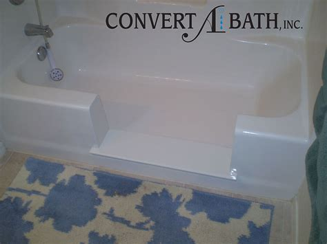 easy step bathtub to shower conversion tub conversions convertabath 174