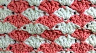 how to change colors in crochet shell left crochet stitch change color every row pattern