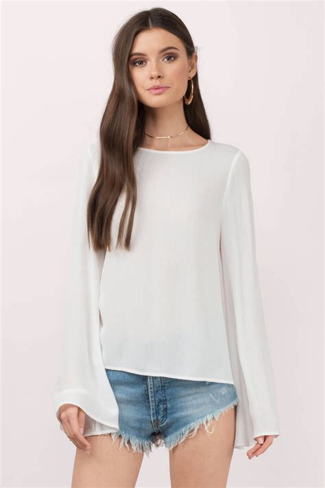 Anisa Top Blouse white blouse open back blouse white blouse