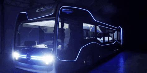 autonomous mercedes bus drives  miles  amsterdam inverse
