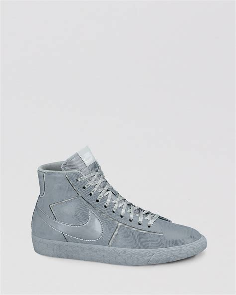 nike high top womens sneakers nike lace up high top sneakers womens blazer in gray grey