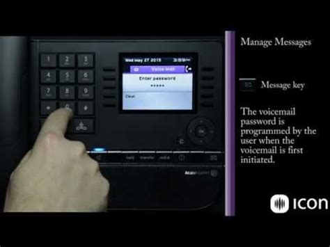 reset voicemail password alcatel lucent alcatel lucent 8068 premium deskphone on oxe demo and