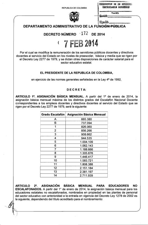 tabla salarial 1278 2014 upload share and discover decreto salarial 2277 para 2014