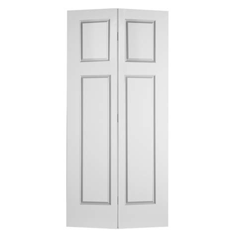 24 Bifold Closet Doors Shop Reliabilt No Frame 3 Panel Craftsman Hollow