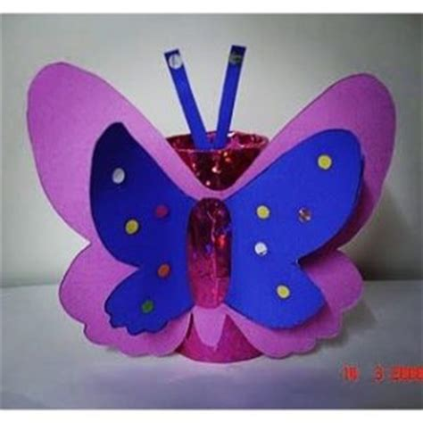 Toilet Paper Roll Butterfly Craft - recycled butterfly craft idea for preschool crafts