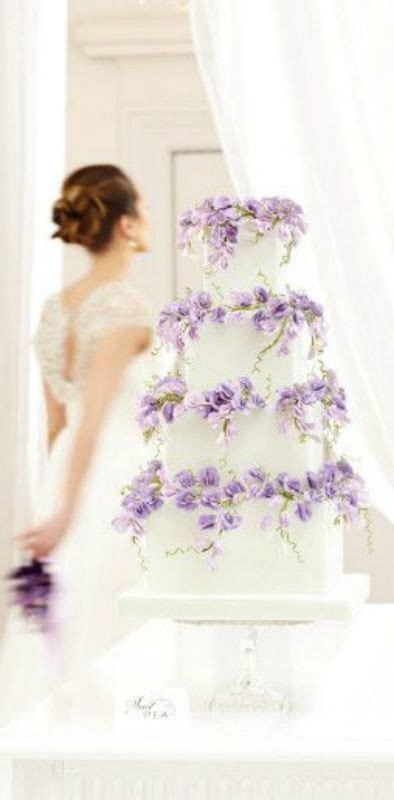 classic purple and white wedding cake with marzipan roses pinterest the world s catalog of ideas