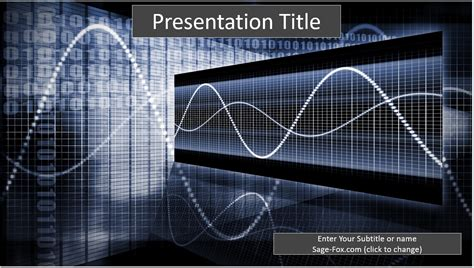Free Binary Technology Powerpoint Template 6719 Sagefox Powerpoint Templates Technology Templates