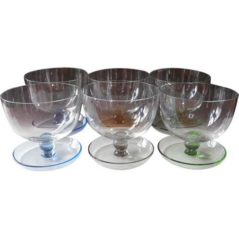 vintage cocktail glasses shrimp cocktail finger dessert bowl glasses vintage