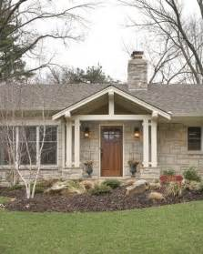 Ranch Home Plans With Front Porch by Break Up A Boring Rectangle Ranch House Roof Line For Curb