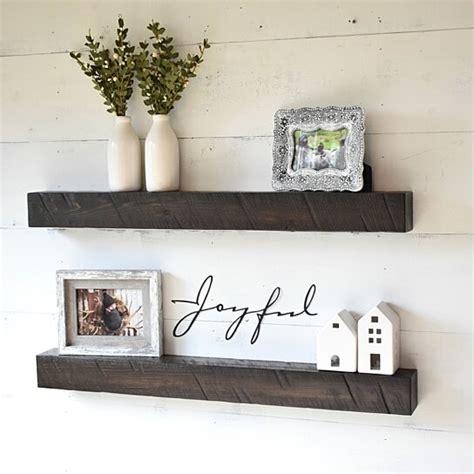 buy rustic solid wood floating shelves  jnmrustic
