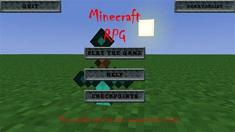 mod game rpg minecraft rpg a full minecraft styled rpg game beta 0